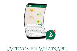 ¡Activos en WhatsApp!